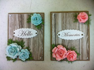 Cards made With Diemond Dies Realistic Roses Die Set