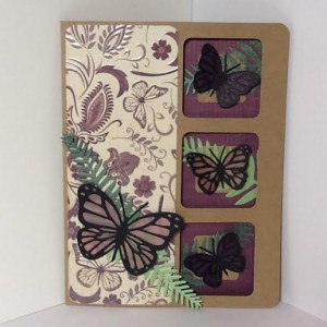 Butterfly Card using Diemond Dies Monarch Butterfly Die Sets and Fern Leaf Die