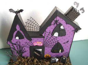 Cemetary Inn - Altered Project using Diemond Dies Halloween Dies - Created by Gina Ortiz