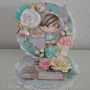 Card Created With Diemond Dies Realistic Roses and Fern Die