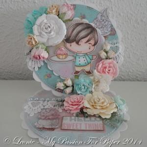 Card Created With Diemond Dies Realistic Roses and Fern Die