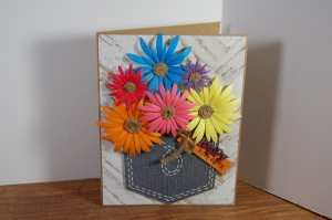 Card Made With Diemond Dies nesting Pocket Dies and Aster Flowers Die Set Created by Renee Myers