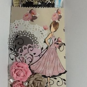 Altered Paper Bag Using Diemond Dies Realistic Roses Die Set and Natures Flourish Die