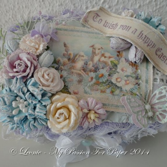 Altered Egg Carton Created Using Diemond Dies Realistic Roses Die Set, Small Monarch Butterfly Die Set, and Pine Branch Die created by Leonie