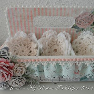 Altered Box Created With Diemond Dies Realistic Rose Die Set, Small Monarch Butterfly Die Set, and Fern Die