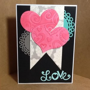Valentine Card Using Diemond Dies Nesting Fishtail Banners Die Set