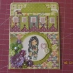 Card Made With Diemond Dies Fancy Flowers Die Set, Mini Must Haves Die Set, and Nesting Banners Die Set