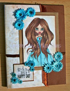 Card created by Erika Paws Using Diemond Dies Fancy Flowers Die Set