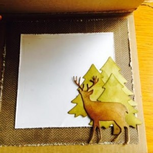 Card Made With Diemond Dies Deer Trio Die Created by Karen Stowell