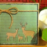 Card made With Diemond Dies Deer Trio Die Created by Janice Hughes