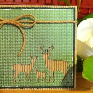 Card made With Diemond Dies Deer Trio Die Created by Janice Hughes