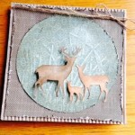 Card Made With Diemond Dies Deer Trio Die Created by Karen Stowell