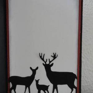 Inside of Card Made With Diemond Dies Deer Trio Die created by Leonie
