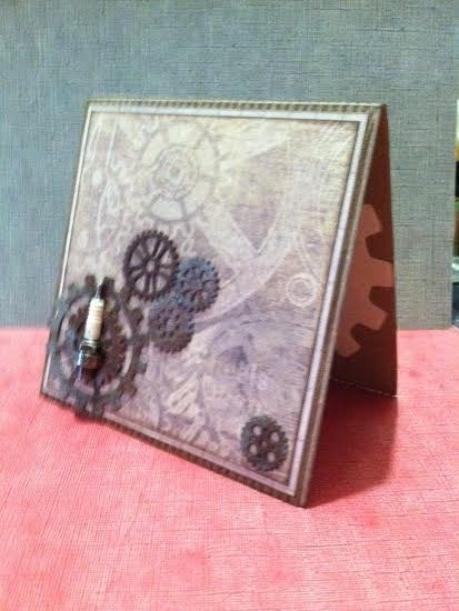 Card Made With Diemond Dies Steampunk Gears Die Set Created by Janice Hughes