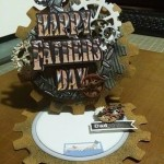 Easel Card made With Diemond Dies Steampunk Gears Die Set and Steampunk Mini Album Die Set created by Chandi Walsh