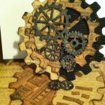 Easel Card made With Diemond Dies Steampunk Gears Die Set and Steampunk Gears Mini Album Die Set