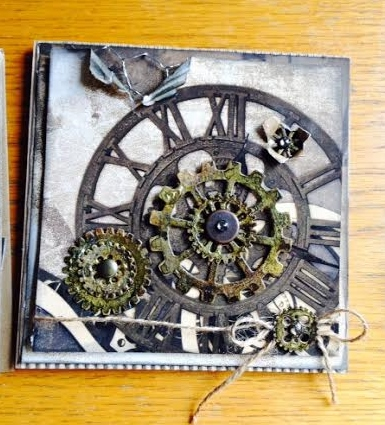 Card Made With Diemond Dies Steampunk Gears Die Set Created by Karen Stowell