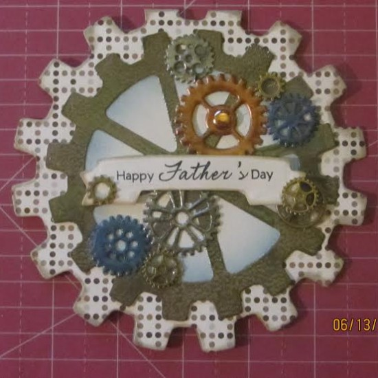 Card Made With Diemond Dies Steampunk Gears Die Set snf Steampunk Gears Mini Album Die Set