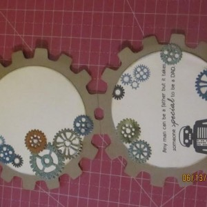 Card Made With Diemond Dies Steampunk Gears Set and Steampunk Gears Mini Album Die Set