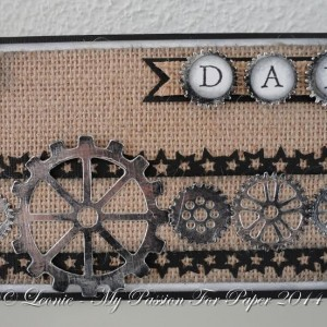 Card Made With Diemond Dies Steampunk Gears Die Set Created by Leonie