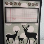 Card Made With Diemond Dies Steampunk Gears and Deer Trio Die Created by Leonie