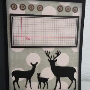 Card Made With Diemond Dies Steampunk Gears and Deer Trio Die Created by Leonie