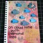 Art Journal Page Using Diemond Dies Fancy Clouds Die Set Created by Janice Hughes