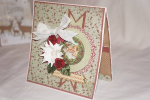 Winter Themed Card Made With Diemond Dies Poinsettia, Fishtail Banners, Circles, and Scalloped Circles Dies