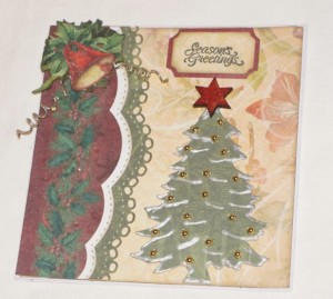 Christmas Card Made With Diemond Dies Christmas Tree Die
