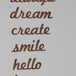"Diemond Dies Word Die Set #1 is a ten die set that cuts out the following words: memories, forever, always, dream, create, smile, hello, hope, xoxo, and love. These make great sentiments for your cards, atc's, project life, layouts, and mixed media projects. Approx. 1/2"" tall."