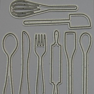 Diemond Dies Kitchen Utensils Die Set