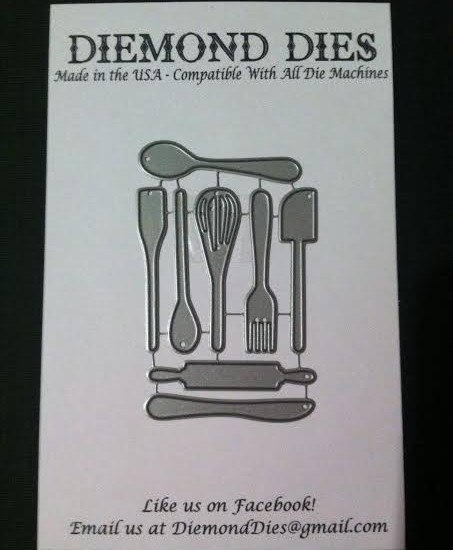 Diemond Dies Mini Kitchen Utensils Die Set