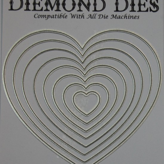 Diemond Dies Nesting Hearts Die Set