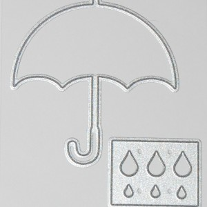 Diemond Dies Umbrella and Raindrops Die Set
