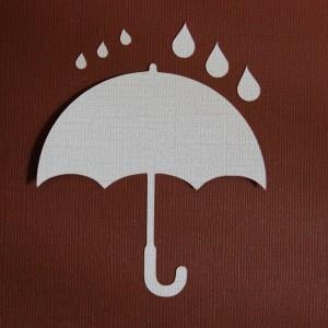 Diemond Dies Umbrella and Raindrops Die Set