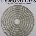 Diemond Dies Cross Stitched Circles Die Set