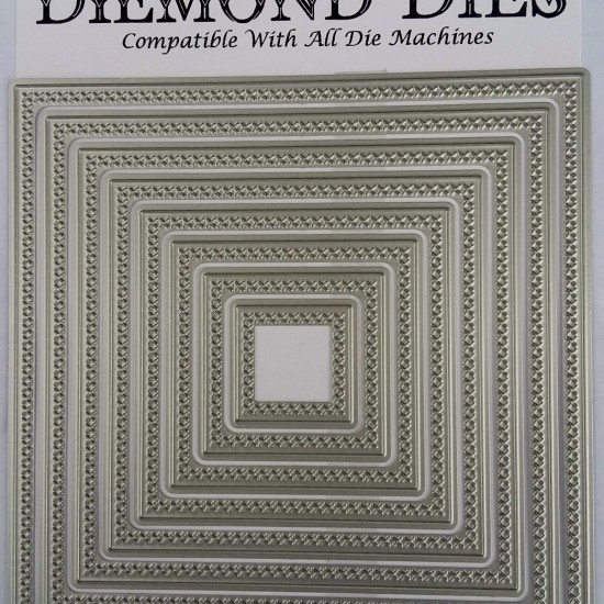 Diemond Dies Cross Stitched Squares Die Set