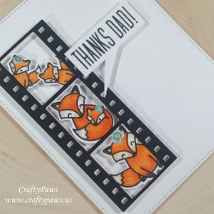 Cute Card made by Crafty Paws usind Diemond Dies Filmstrip Die