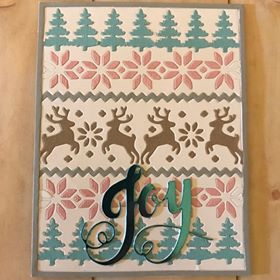 Card made by Rosa Vera using Diemond Dies Cozy Ugly Sweater Cover Plate Die and Holiday Words Die Set