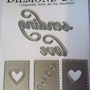 Diemond Dies Sending Love Die Set