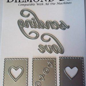 Diemond Dies Sending Love Die Set