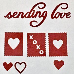 Diemond Dies Sending Love Die Cuts