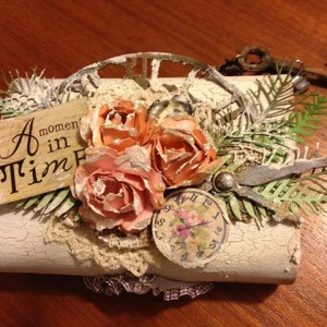 Altered Balsa Box using Diemond Dies Fern Leaf Die