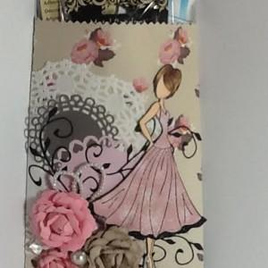 Altered Paper Bag Using Diemond Dies Realistic Roses Die Set and Natures Flourish Die