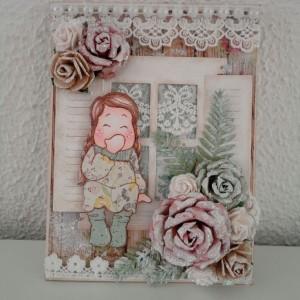 Card Created Using the Diemond Dies Realistic Roses Die Set, Window Die Set and Fern Leaf Die Created by Leonie