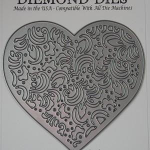 Diemond Dies Filigree Heart Die