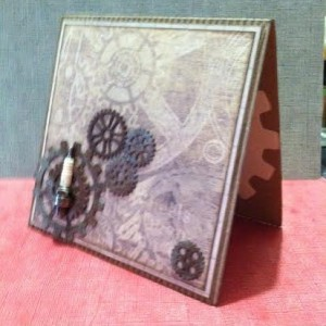 Card Made With Diemond Dies Steampunk Gears Die Set Created by Janice Hughes