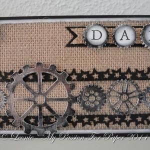 Card Made With Diemond Dies Steampunk Gears Die Set Created by Leonie