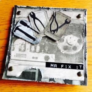 Card Made With Diemond Dies Mr. Fix It Tools Die Set Created by Karen Stowell