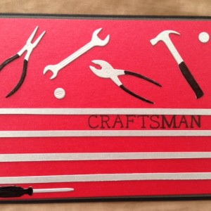 Card Made With Mr. Fix It Tools Die Set Created by Kerri-Jo Sharp